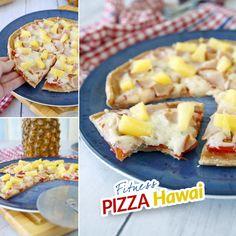 Pizza Hawai - zdravá fit - recept Bajola Healthy Style, Hawaiian Pizza, Mozzarella, Menu, Recipes, Food, Menu Board Design, Rezepte, Food Recipes