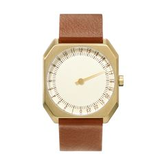 Slow Watch Slow Jo Brown Leather Gold Case Cream Dial