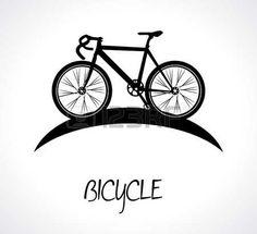 dise�o de la bicicleta sobre fondo blanco ilustraci�n vectorial photo