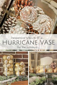 One hurricane vase -