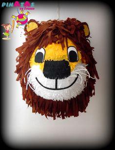 PINATAS EN FRANCE. PIÑATAS EN FRANCIA. Piñata Lion. Piñata león. Happy Birthday. Birthday Party Ideas. Piñata Time. Piñatas Ideas. Anniversaire Circus. Circus Birthday. Anniversaire Jungle . Jungle Birthday
