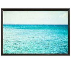 "Smooth Sailing Framed Print by Lupen Grainne, 42 x 28"", Ridged Distressed Frame, Black, No Mat"