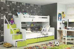 Łóżko dziecięce piętrowe KAROL III 200/120 ZIELONE