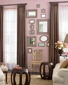 love this grouping of mirrors (and of course my love of frames makes this just lovely)