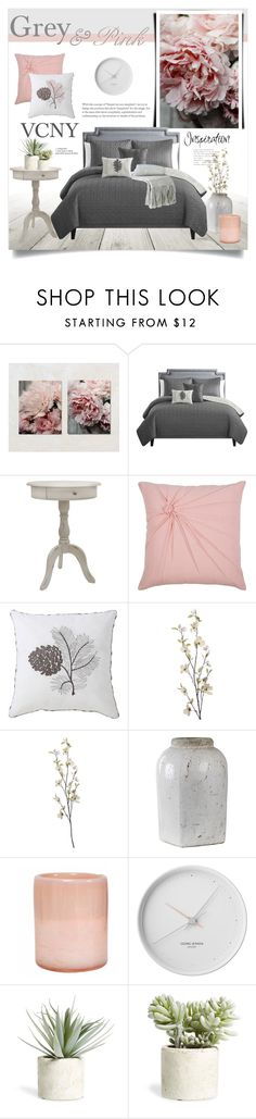 """VCNY Bedding"" by catchsomeraes ❤ liked on Polyvore featuring interior, interiors, interior design, home, home decor, interior decorating, J. Hunt, Rizzy Home, VCNY and Pier 1 Imports"