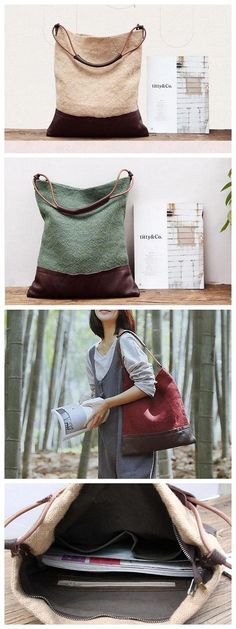 Canvas Bag, Canvas Shoulder Bag, Womens Shoulder Bag - Brown - Source by bags ideas Diy Sac, Canvas Messenger Bag, Canvas Shoulder Bag, Vintage Bags, Handmade Bags, Fashion Bags, Fashion Fashion, Purses And Bags, Sewing Projects