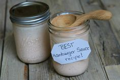 Sharing the Best Burger Sauce Recipe - a special sauce for your hamburgers to make your barbecue extra awesome. Recipe from The Recipe Girl Cookbook. Good Burger Sauce Recipe, Best Burger Sauce, Special Sauce Recipe, Burger Sauces Recipe, Sauce Recipes, Thousand Island Dressing, Hamburger Sauce, Hamburger Seasoning, Hamburger Recipes