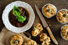 Moist savory muffins with sun-dried tomatoes and olives   #vegan #brunch #breakfast #delicious