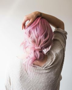 Wonderful candy pink hair color with low wrapped bun makes this final look so outstanding My Hairstyle, Pretty Hairstyles, Corte Y Color, Coloured Hair, Dream Hair, About Hair, Looks Cool, Hair Day, Pink Hair