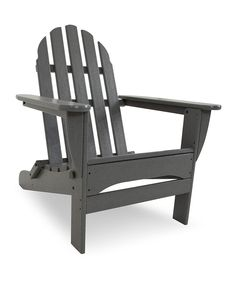 This Gray Classic Folding Adirondack by Poly-Wood is perfect! #zulilyfinds