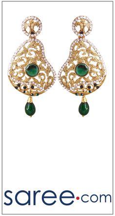 GREEN FANCY EARRING  #Jewelry #accessories #Earrings #Earringsoftheday #necklace #necklaceoftheday #necklaceset #jewelleryset #jewellerydesign #jewelleryonline #buyonline #jewellery