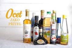 Ocet pro každou příležitost: jaký druh a kam použít? Rice Vinegar, Korn, Spice Mixes, Wine Rack, Spices, Drinks, Bottle, Cooking, Ideas