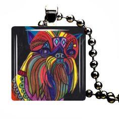 Dog Jewelry  Brussels Griffon Pendant Necklace by HeatherGallerArt, $28.00