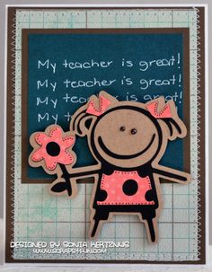 End of the year card to all your teachers Teachers Day Card, Teacher Cards, Teacher Shirts, Diy And Crafts, Paper Crafts, Cricut Cards, Scrapbook Designs, Class Projects, Teacher Appreciation Gifts