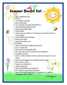 Summer Bucketlist by aliLillyblog.com