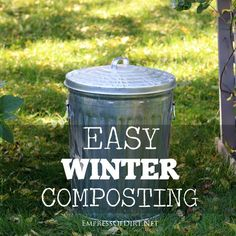 Easy way to compost in the winter - smart method that saves time and keeps kitchen waste out of landfills.