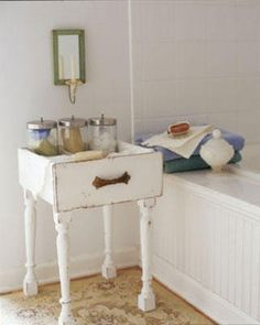 Add legs to old drawers by christa