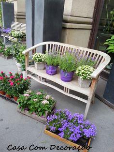 Design e Decoração- Blog de Decoração: Decoração- Inspiração Está Em Todos Os Lugares  #vasos #pots #flores #decoração externa