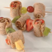 Peanut Butter and Honey Roll Ups This is a great lunch for the kids to brown bag with.