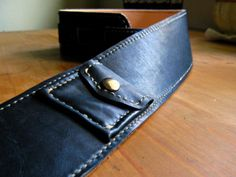 """pickpocket"" guitar strap. with a pocket.... for picks."