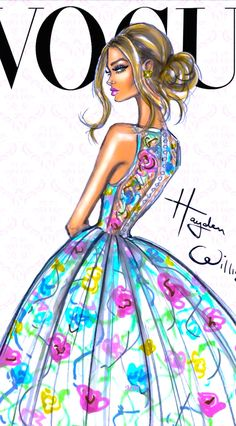 Hayden Williams Fashion Illustration | House of Beccaria~ BRILLO Y EL USO DEL GRIS Y EL BLANCO
