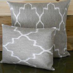 Moroccan style print pillows.