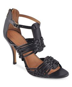 Look at this #zulilyfind! Black Twilight Leather Sandal by Corso Como #zulilyfinds