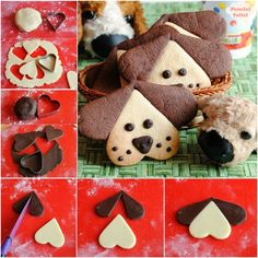 little puppy shortbread biscuits - biscuits and small pastries - . - little puppy shortbread biscuits – biscuits and small pastries – - Shortbread Biscuits, Cookies Et Biscuits, Biscotti Biscuits, Pastry Recipes, Dessert Recipes, Cake Recipes, Short Pastry, Shortcrust Pastry, Cute Cookies
