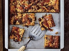 Brown Butter Blondies with Caramel | Southern Living