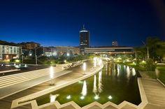 Scorcio notturno del Parco della Musica