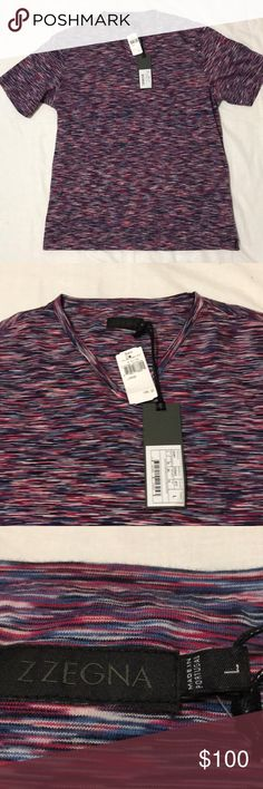 NWT Z Zegna Men's V-neck Short Sleeved TShirt NWT Z Zegna Men's V-neck T-shirt made of 100% cotton. 22 inches pit to pit, 27.6 inch length, and 7.5 inch sleeve. *all measurements approximate* ships same or next day! Pet free, smoke free home! Check out my closet for daily deals! Offers and questions welcomed! Z Zegna Shirts Tees - Short Sleeve