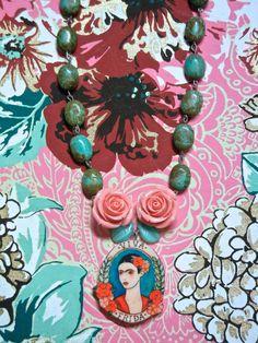 Frida Kahlo Turquoise Necklace Frida Kahlo by EclecticBazarShop