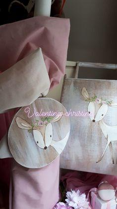 Χειροποίητα βαπτιστικά για κοριτσάκι με θέμα το ελαφακι by valentina-christina handmade products Apron, Aprons
