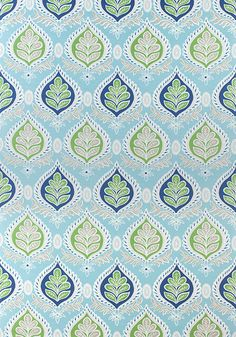 MIDLAND, Blue and Green, F924316, Collection Bridgehampton from Thibaut