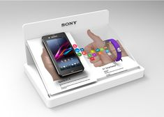 A. A series of table top glorifiers for Sony. The brief calls for a small-sized table top glorifier to showcase a set of new products, namely the Sony Xperia Z2 Waterproof phone and an Smartband SWR10...