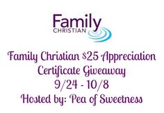 Family Christian Giveaway Sponsored by Family Christian Hosted by Pea of Sweetness Co-Hosted by Deals of Sweetness Family Christian provides an enhanced selection of everything from Christian books and family movies to a wide array of Bibles, plus exclusive content…