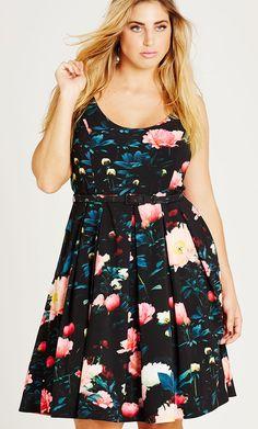 Plus Size Floral Delight Dress