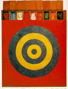 Jasper Johns, Target with Plaster Casts US, Neo Dada Jackson Pollock, Neo Dada, Roy Lichtenstein, Willem De Kooning, Jean Michel Basquiat, Pop Art, Keith Haring, Jasper Johns Paintings, Jasper Jones