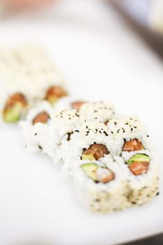 Sushi - go try it. Sushi Go, Best Sushi, I Love Food, Good Food, Yummy Food, Japanese Food, Asian Recipes, Cravings, Food Porn