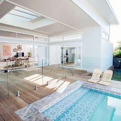 If you are working with the best backyard pool landscaping ideas there are lot of choices. You need to look into your budget for backyard landscaping ideas House Design, Pool House, House, Home, House Goals, House Inspo, House Exterior, New Homes, Swimming Pool Tiles