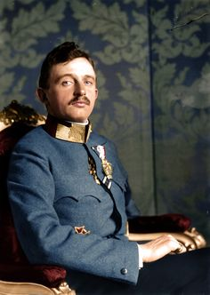 Charles I of Austria and the IV of Hungary, was the last ruler of the Austro-Hungarian Empire, and the last King of Hungary, seen here in uniform. Soldier Costume, Royal Photography, Holy Roman Empire, Austro Hungarian, Roman Emperor, Army Uniform, Ludwig, World War One, Ferdinand