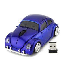 fd50bf5d721 2016 Christmas Gift Wireless Mause 3D 3500DPI USB Optical 2.4G Car VW  Beetle Mice Bug