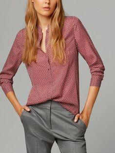 Большой размер элегантные старинные женщин блузка из хлопка блузки весна осень женщины топы красные листья печать OL Blusas дешевую одежду китай купить на AliExpress