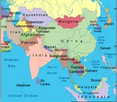 Asian countries map asia map china russia india japan asia map region country asia stretches from japan in the east through russia in the west gumiabroncs Image collections