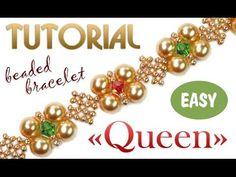 """Tutorial: Queen beaded bracelet [EASY] / Браслет из бисера """"Королева"""" - YouTube"""