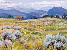 "Arroyo Seco Meadow by Sherry Houpt Acrylic ~ 12"" x 16"""