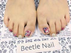 Nail Art - Beetle Nail  タイダイフット♡  #arteBeetlenail #Beetlenail #ビートルネイル #アルテビートルネイル