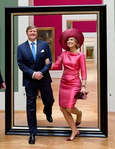 On April King Willem-Alexander and Queen Maxima of the Netherlands started their two-day official visit in Bavaria, Germany. They visited the Alte Pinakothek (Old Pinacotheca) and the BMW Welt (BMW World) in Munich. Style Royal, Royal Clothing, My Fair Lady, Special Dresses, Queen Maxima, High Society, Queen Elizabeth Ii, Royal Fashion, Dress Codes