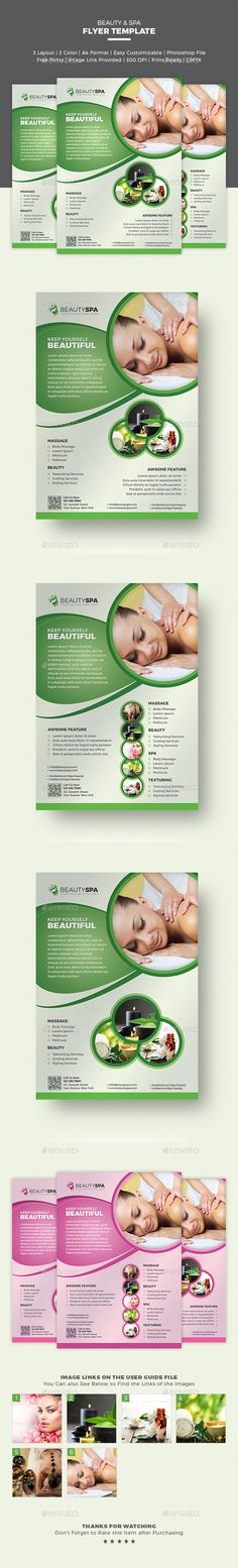 Spa Flyer / Beauty Flyer - An eye catchy flyer template that can represent your business the way you want your customers to know about it.  http://graphicriver.net/item/spa-flyer-beauty-flyer/15638382?ref=themedevisers