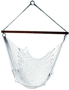 Algoma 4987 Hanging Chairs polyester rope chair Hardwood spreader bar support overhead long spreader bar creates a comfortable chair to and up to long Can be hung from trees, porches, patios and indoors or with model Rope Hammock, Portable Hammock, Hammock Swing, Hammock Chair, Hammocks, Spreader Bar, Black Dining Room Chairs, Plastic Adirondack Chairs, Health
